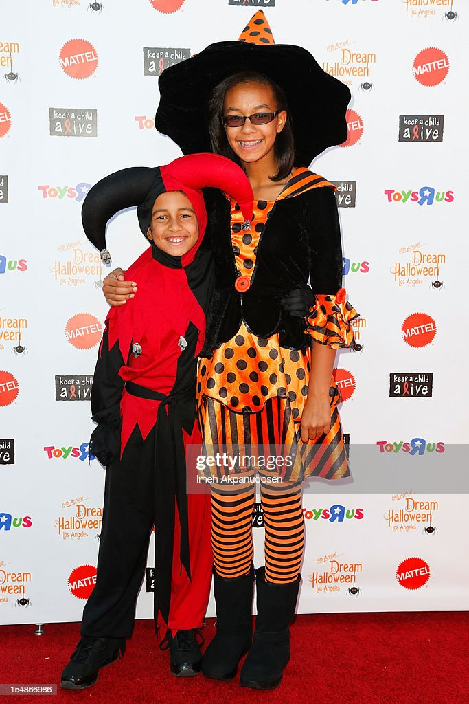 Actor Tyree Brown (L) and actress MacKenzie Brown attend the 2012 'Dream Halloween' presented by Keep A Child Alive at Barker Hangar on October 27, 2012 in Santa Monica, California.