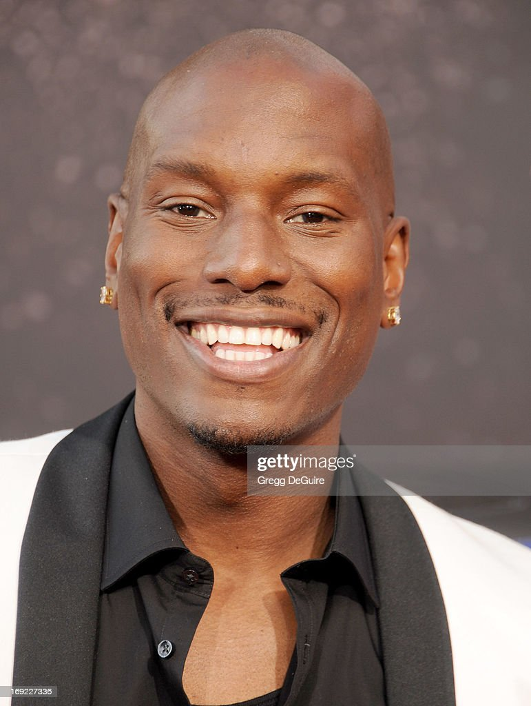 Actor Tyrese Gibson arrives at the Los Angeles premiere of 'Fast & The Furious 6' at Gibson Amphitheatre on May 21, 2013 in Universal City, California.