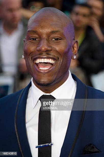 US actor Tyrese Gibson arrives at the world premiere of 'Fast and Furious 6' at the Empire cinema in Leicester Square in central London on May 7 2013...