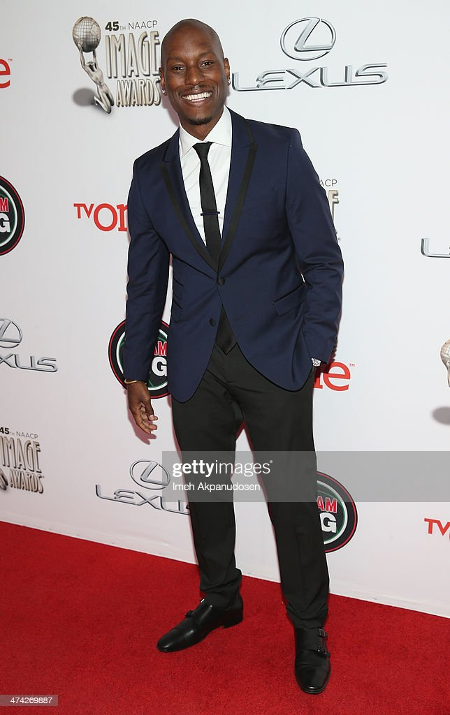 Actor <a gi-track='captionPersonalityLinkClicked' href=/galleries/search?phrase=Tyrese&family=editorial&specificpeople=206177 ng-click='$event.stopPropagation()'>Tyrese</a> Gibson attends the 45th NAACP Image Awards presented by TV One at Pasadena Civic Auditorium on February 22, 2014 in Pasadena, California.