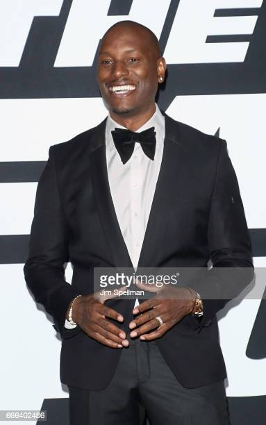 Actor Tyrese Gibson attends 'The Fate Of The Furious' New York premiere at Radio City Music Hall on April 8 2017 in New York City