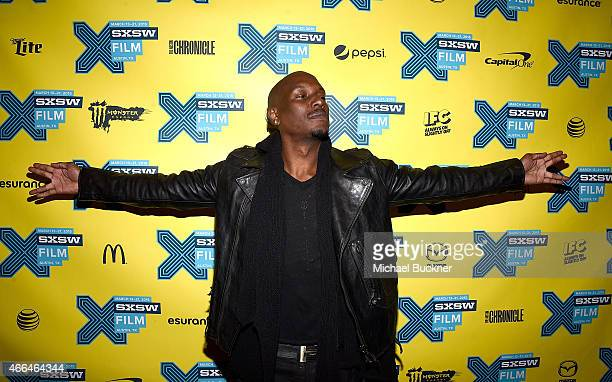 Actor Tyrese Gibson attends the screening of 'Furious 7' during the SXSW Music Film Interactive Festival at the Paramount on March 15 2015 in Austin...