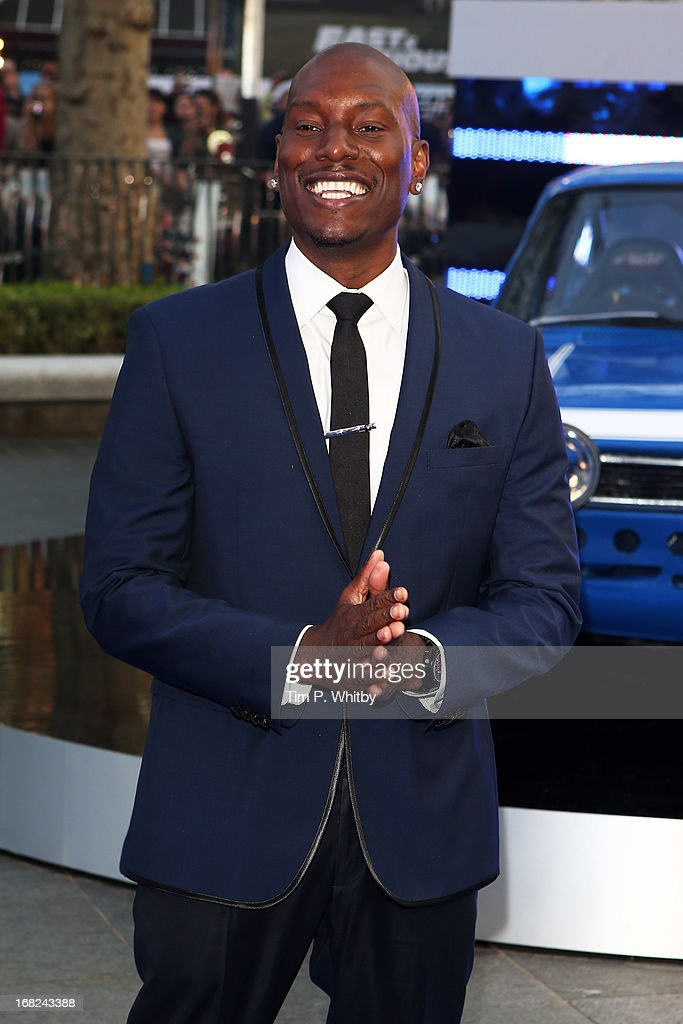 Actor <a gi-track='captionPersonalityLinkClicked' href=/galleries/search?phrase=Tyrese&family=editorial&specificpeople=206177 ng-click='$event.stopPropagation()'>Tyrese</a> Gibson attends the World Premiere of 'Fast & Furious 6' at Empire Leicester Square on May 7, 2013 in London, England.