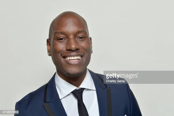 Actor Tyrese Gibson poses for a portrait during the 45th NAACP Image Awards presented by TV One at Pasadena Civic Auditorium on February 22 2014 in...