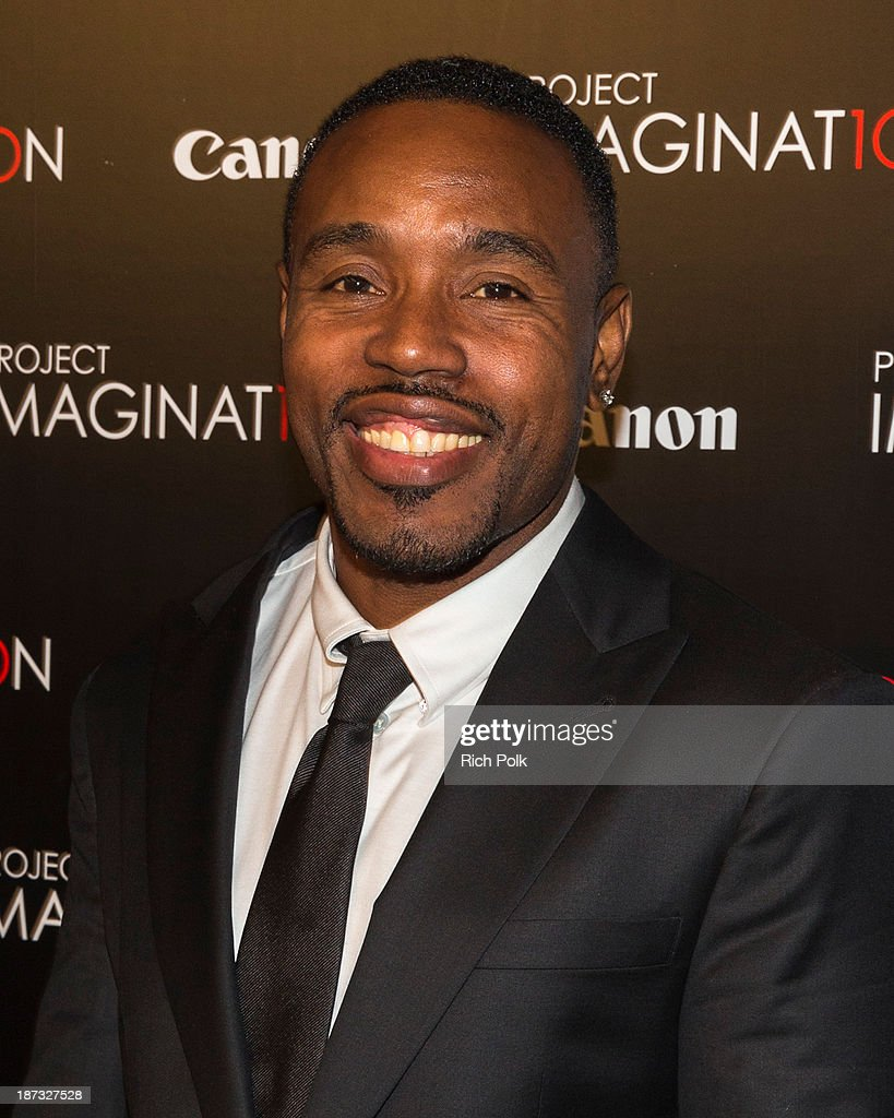 Actor Tyrin Turner arrives at Canon's Los Angeles Screening Of The Project Imaginat10n Film Festival at Pacific Theaters at the Grove on November 7, 2013 in Los Angeles, California.