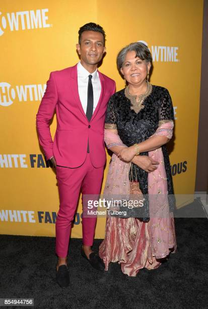 Actor Utkarsh Ambudkar and his mother attend the premiere of Showtime's 'White Famous' at The Jeremy Hotel on September 27 2017 in West Hollywood...