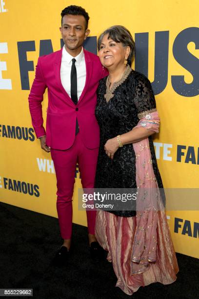 Actor Utkarsh Ambudkar and Indu Ambudkar attend the Premiere Of Showtime's 'White Famous' at The Jeremy Hotel on September 27 2017 in West Hollywood...