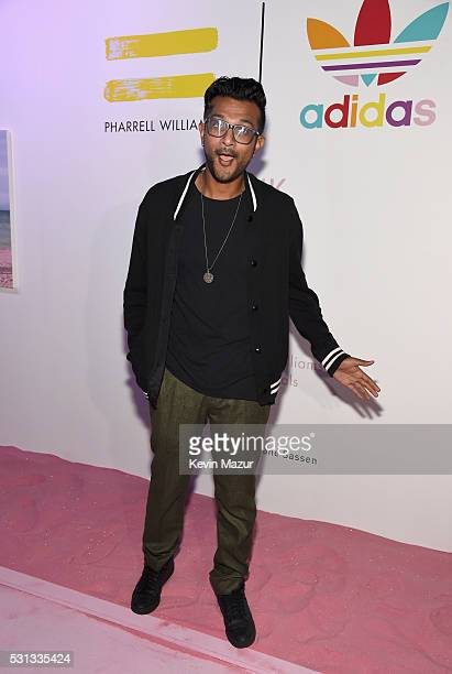Actor Utkarsh Ambudkar attends adidas Originals Pink Beach Pharrell Williams party on May 13 2016 in West Hollywood California