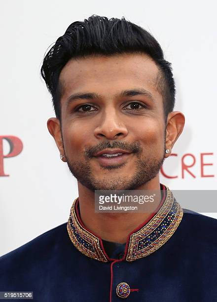 Actor Utkarsh Ambudkar attends the premiere of New Line Cinema's 'Barbershop The Next Cut' at the TCL Chinese Theatre on April 6 2016 in Hollywood...