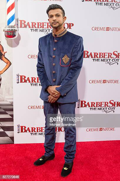 Actor Utkarsh Ambudkar attends the Premiere of New Line Cinema's 'Barbershop The Next Cut' at TCL Chinese Theatre on April 06 2016 in Hollywood...