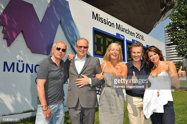 Actor Uwe Ochsenknecht Axel Milberg and his his wife Judith Milberg Timothy Peach and Gerit Kling attend the Public Viewing Of Host City Election For...
