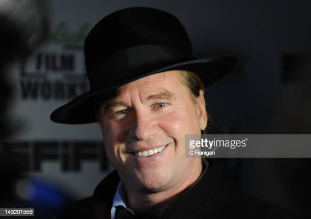Actor Val Kilmer attends 'The Fourth Dimension' World Premiere during the 2012 San Francisco Film Festival at Sundance Kabuki Cinema on April 20 2012...