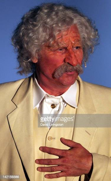 Actor Val Kilmer performs on stage during the opening night of his one man show 'Citizen Twain' at Hollywood Forever on March 30 2012 in Hollywood...
