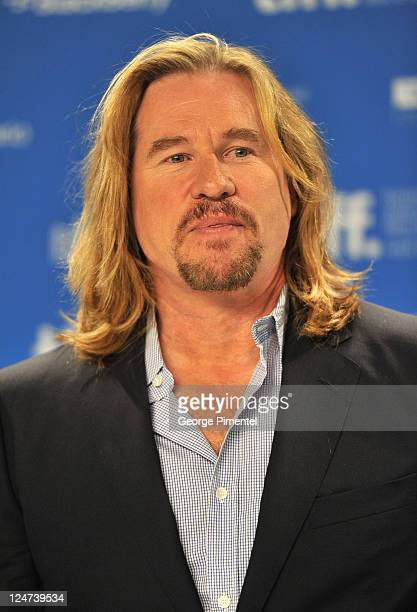 Actor Val Kilmer speaks onstage at 'Twixt' press conference during the 2011 Toronto International Film Festival at TIFF Bell Lightbox on September 12...