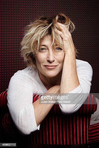 Actor Valeria Bruni Tedeschi is photographed for Paris Match on October 22 2014 in Paris France