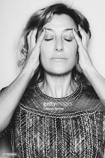 Actor Valeria Bruni Tedeschi is photographed on May 17 2015 in Cannes France