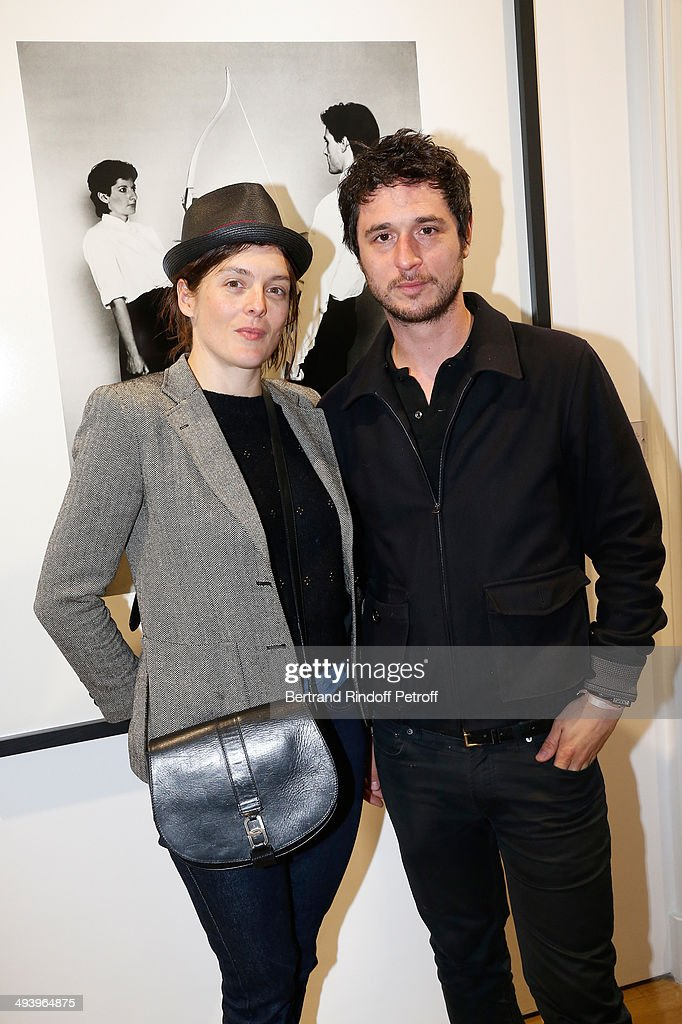 Actor Valerie Donzelli and her husband Jeremy Elkaim attend the Pharrell Williams' Private Concert at Galerie Perrotin in Paris on May 26 2014 in...