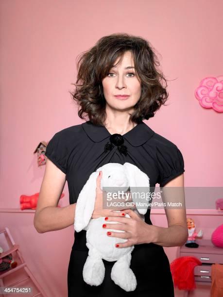 Actor Valerie Lemercier is photographed for Paris Match on November 25 2013 in Paris France