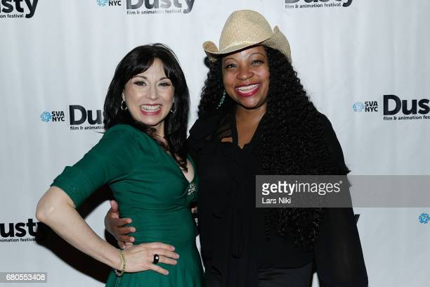 Actor Valerie Smaldone and Sherese Robinson attend the 28th Dusty Film Animation Festival at SVA Theater on May 8 2017 in New York City