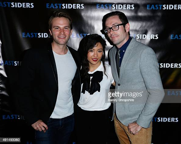Actor Van Hansis actress Constance Wu and Writer/director Kit Williamson arrive at the premiere of Go Team Entertainment's 'EastSiders' season 2 at...