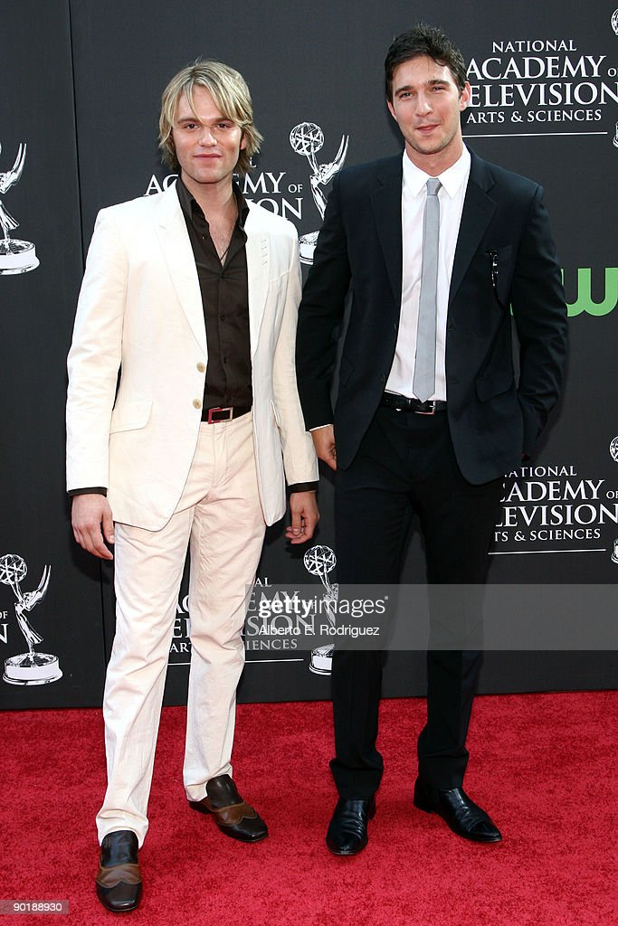Actor Van Hansis and Actor Jake Silbermann arrive at the 36th Annual Daytime Emmy Awards at The Orpheum Theatre on August 30, 2009 in Los Angeles, California.