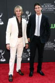 Actor Van Hansis and Actor Jake Silbermann arrive at the 36th Annual Daytime Emmy Awards at The Orpheum Theatre on August 30 2009 in Los Angeles...