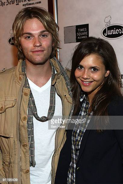 Actor Van Hansis and actress Alendra Chando attend the 23rd Annual Broadway Flea Market Grand Auction at Roseland Ballroom on September 27 2009 in...