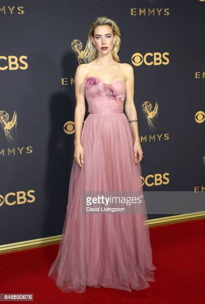 Actor Vanessa Kirby attends the 69th Annual Primetime Emmy Awards Arrivals at Microsoft Theater on September 17 2017 in Los Angeles California