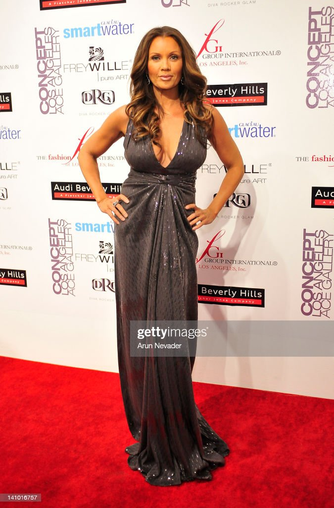 Actor Vanessa Williams (muse to Kevan Hall) appears on the red carpet at 'Meet The Designer and the Muse' at Ace Gallery on March 8, 2012 in Los Angeles, California.