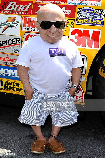Actor Verne Troyer arrives at the Celebrity GoKart Tournament benefiting the American Diabetes Association at K1 Speed Indoor GoKart Racing on May 28...