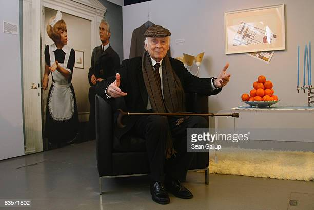 Actor Vicco von Buelow poses for a photocall in the exhibition 'Loriot Die Hommage' at the Filmhaus am Potsdamer Platz on November 5 2008 in Berlin...