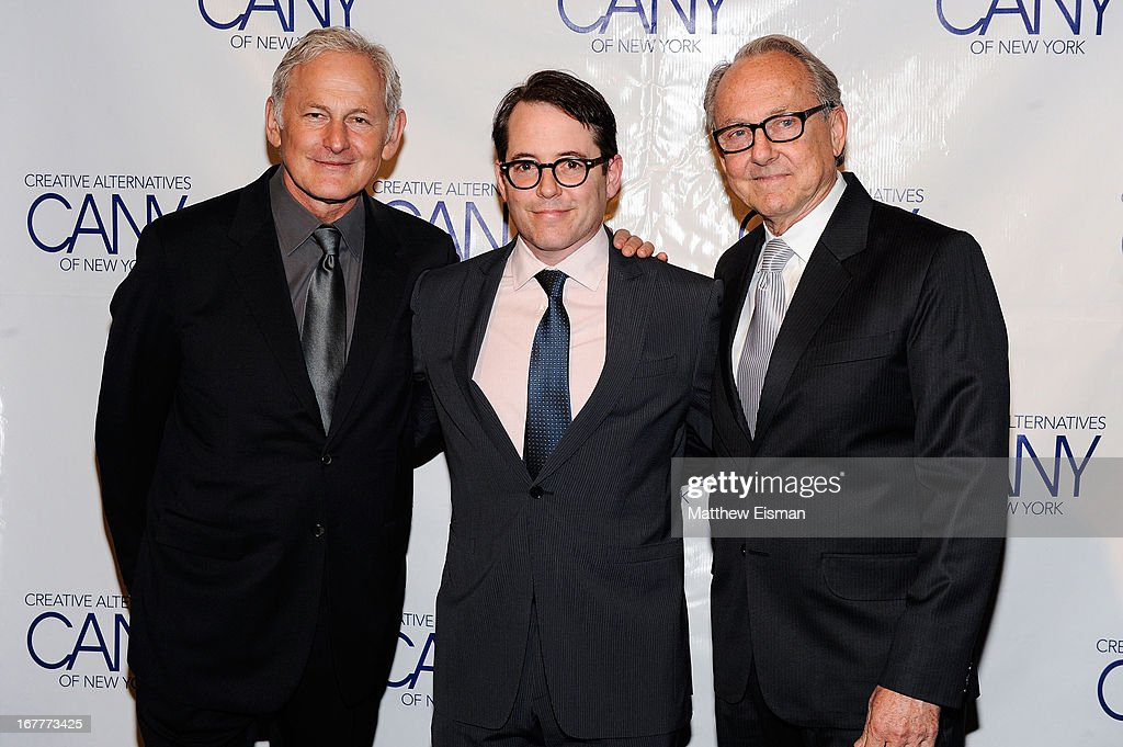 Actor <a gi-track='captionPersonalityLinkClicked' href=/galleries/search?phrase=Victor+Garber&family=editorial&specificpeople=208795 ng-click='$event.stopPropagation()'>Victor Garber</a>, actor <a gi-track='captionPersonalityLinkClicked' href=/galleries/search?phrase=Matthew+Broderick&family=editorial&specificpeople=201912 ng-click='$event.stopPropagation()'>Matthew Broderick</a> and Jonathan Hilton attend the 2013 Creative Alternatives of New York 'The Pearl Gala' at The Edison Ballroom on April 29, 2013 in New York City.