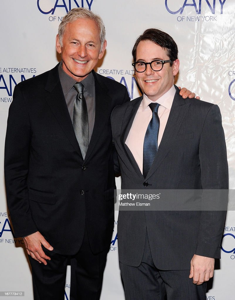 Actor <a gi-track='captionPersonalityLinkClicked' href=/galleries/search?phrase=Victor+Garber&family=editorial&specificpeople=208795 ng-click='$event.stopPropagation()'>Victor Garber</a> (L) and actor <a gi-track='captionPersonalityLinkClicked' href=/galleries/search?phrase=Matthew+Broderick&family=editorial&specificpeople=201912 ng-click='$event.stopPropagation()'>Matthew Broderick</a> attend the 2013 Creative Alternatives of New York 'The Pearl Gala' at The Edison Ballroom on April 29, 2013 in New York City.