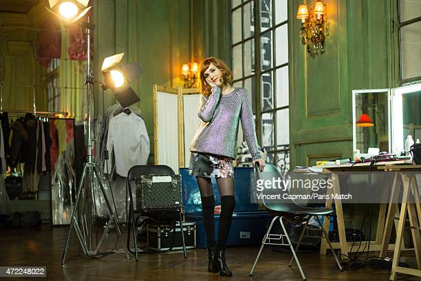 Actor Victoria Bedos is photographed for Paris Match on January 28 2015 in Paris France
