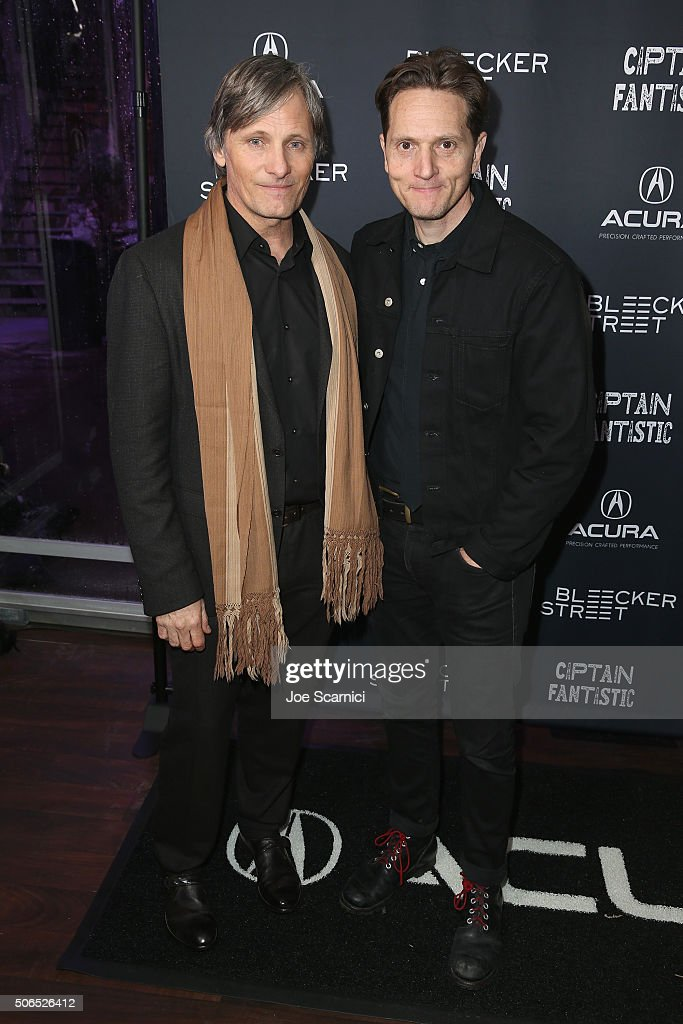 Actor Viggo Mortensen and director Matt Ross attend the 'Captain Fantastic' Premiere Party at The Acura Studio during Sundance Film Festival 2016 on...