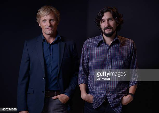 Actor Viggo Mortensen and Filmmaker Lisandro Alonso of 'Jauja' pose for a portrait during the 2014 Toronto International Film Festival on September...