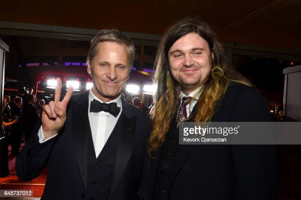 Actor Viggo Mortensen and Henry Mortensen attend the 89th Annual Academy Awards Governors Ball at Hollywood Highland Center on February 26 2017 in...