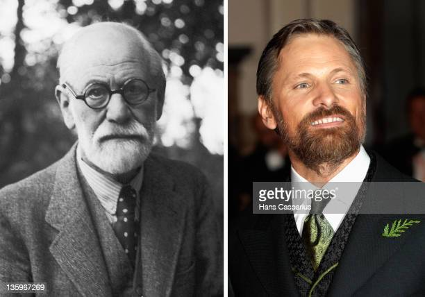 In this composite image a comparison has been made between Sigmund Freud and Actor Viggo Mortensen Oscar hype begins this week with the announcement...