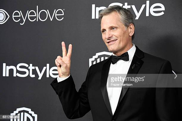Actor Viggo Mortensen attends the 18th Annual PostGolden Globes Party hosted by Warner Bros Pictures and InStyle at The Beverly Hilton Hotel on...