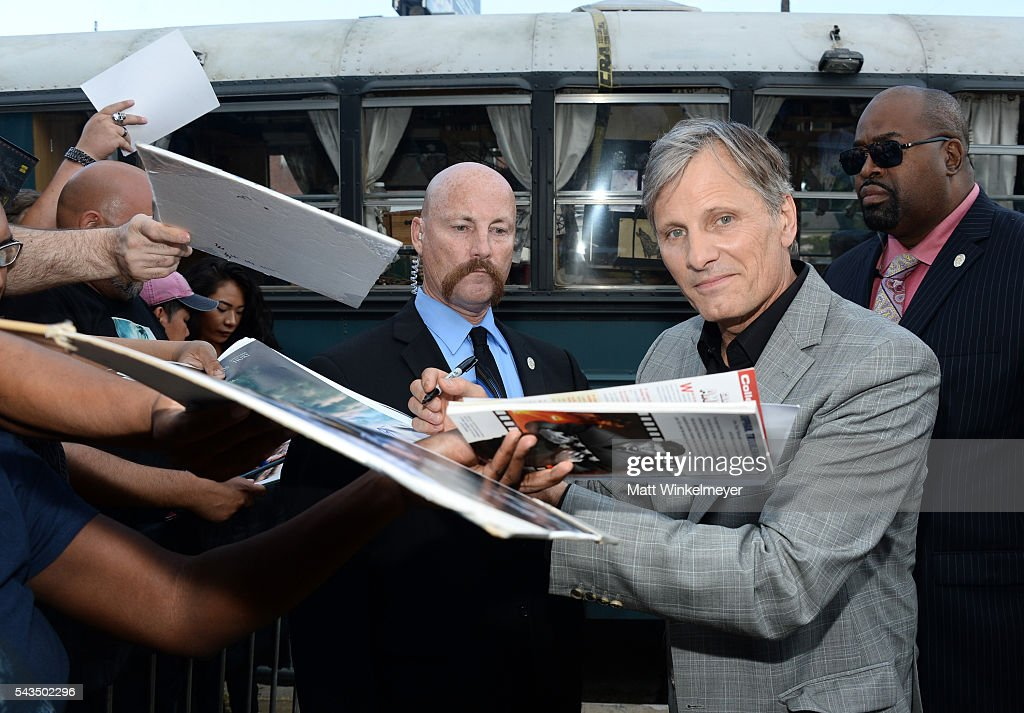 Actor Viggo Mortensen attends the premiere of Bleecker Street Media's 'Captain Fantastic' at Harmony Gold on June 28, 2016 in Los Angeles, California.