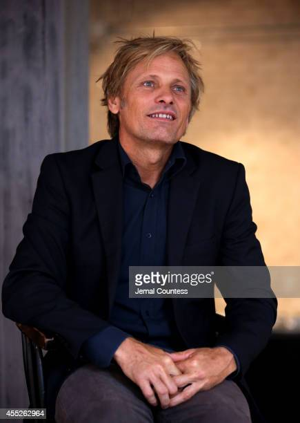 Actor Viggo Mortensen speaks at 'Jauja' Press Conference Arrivals during the 2014 Toronto International Film Festival at Storys Building on September...