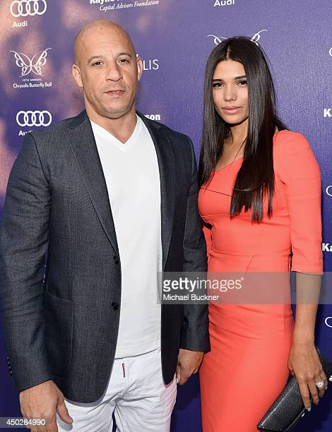 Actor Vin Diesel and Paloma Jimene arrive at the 13th Annual Chrysalis Butterfly Ball in Los Angeles California on June 7th 2014