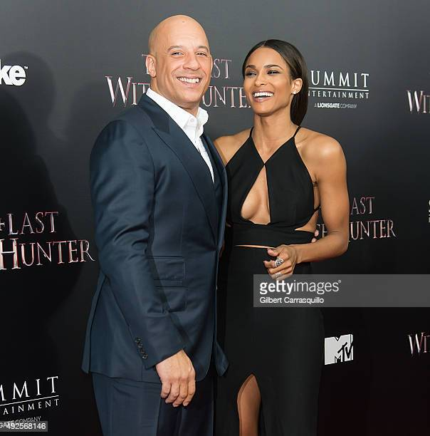 Actor Vin Diesel and singer Ciara attend 'The Last Witch Hunter' New York Premiere at AMC Loews Lincoln Square on October 13 2015 in New York City