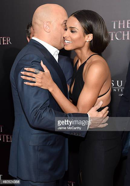 Actor Vin Diesel and singer Ciara attend the New York premiere of 'The Last Witch Hunter' at AMC Loews Lincoln Square on October 13 2015 in New York...