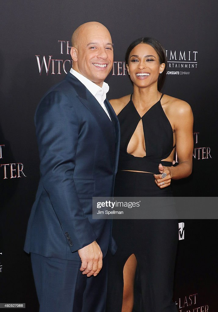 Actor Vin Diesel and singer Ciara attend the 'The Last Witch Hunter' New York premiere at AMC Loews Lincoln Square on October 13 2015 in New York City