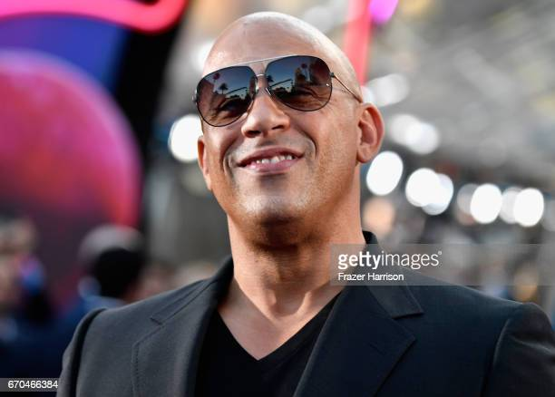 Actor Vin Diesel arrives at the premiere of Disney and Marvel's 'Guardians Of The Galaxy Vol 2' at Dolby Theatre on April 19 2017 in Hollywood...