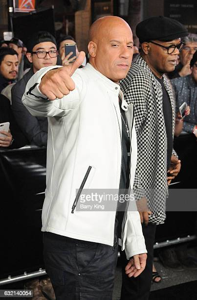 Actor Vin Diesel arrives at the premiere of Paramount Pictures' 'xXx Return Of Xander Cage' at TCL Chinese Theatre IMAX on January 19 2017 in...