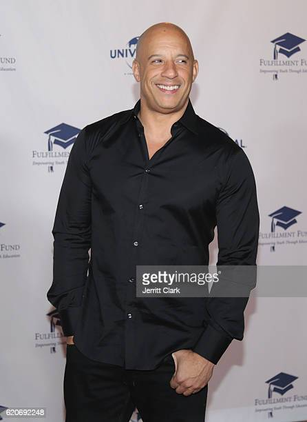 Actor Vin Diesel attends the 22nd Fulfillment Fund Stars Benefit Gala Arrivals at The Globe Theatre at Universal Studios on November 2 2016 in...
