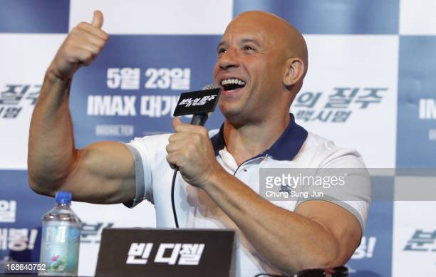 Actor Vin diesel attends the 'Fast Furious 6' press conference on May 13 2013 in Seoul South Korea Vin diesel is visiting South Korea to promote...