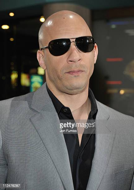 Actor Vin Diesel attends the 'Fast Furious' UK premiere at the Vue West End cinema on March 19 2009 in London England